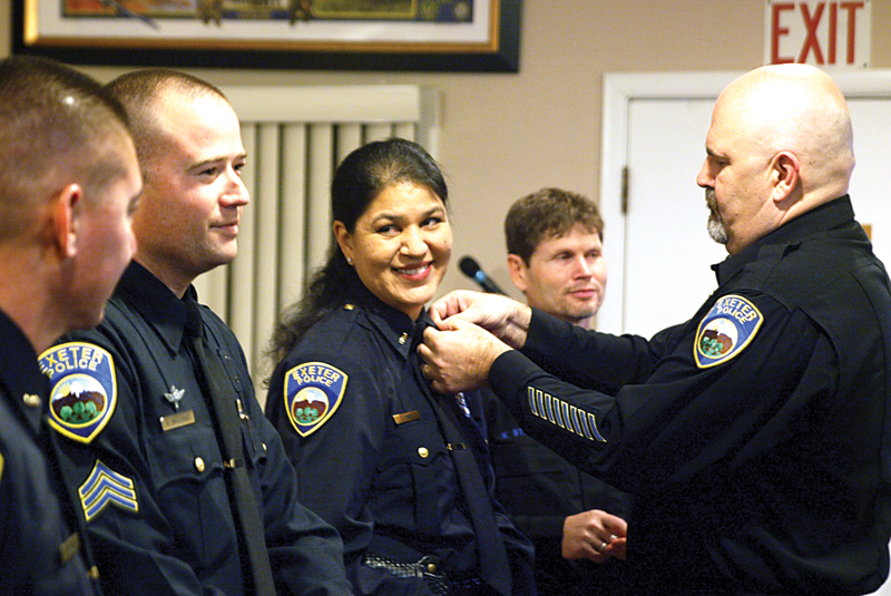 Exeter Police Department promotes four up the ranks