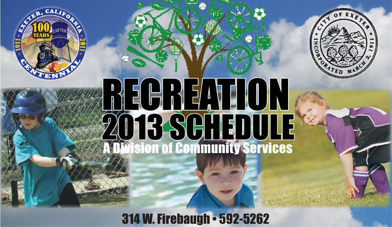 City of Exeter Recreation Department 2013 Schedule