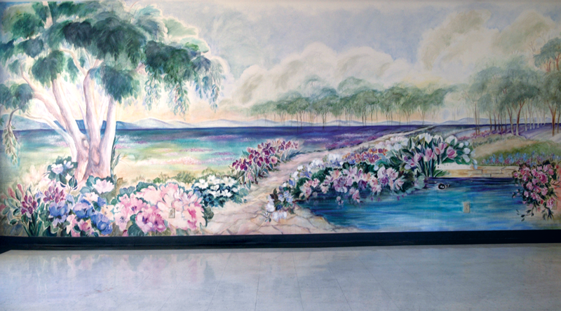 Lindsay Gardens sunsets mural