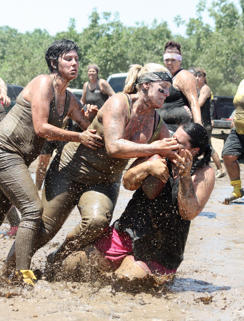 Getting muddy for local charities