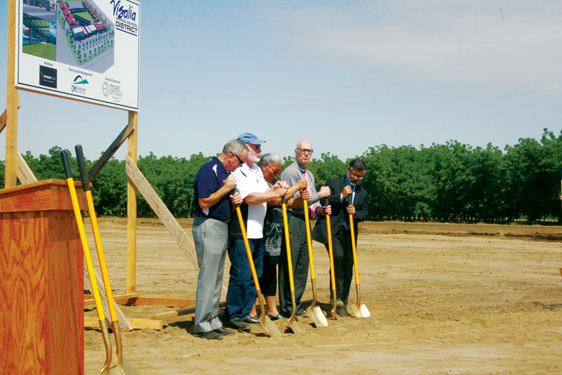 Visalia begins grading ground for new school