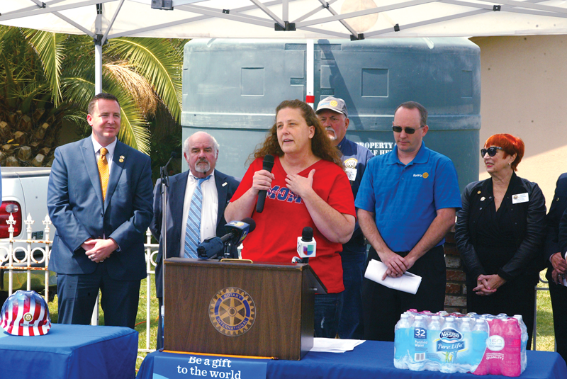 Rotary clubs help turn around stalled water project