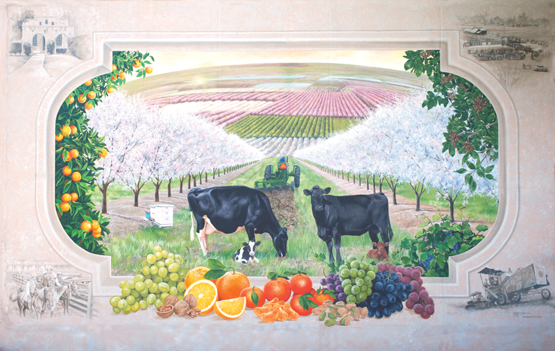 Tulare Co. Farm Bureau sets artist reception to celebrate mural