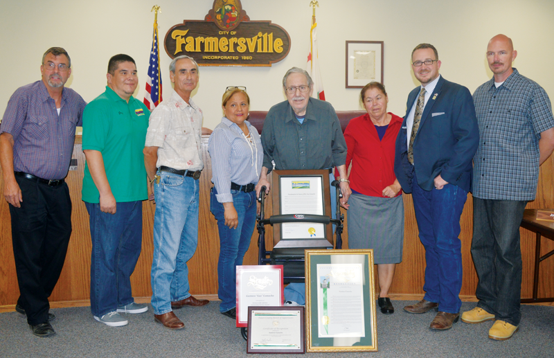 Farmersville council takes time for one of their own