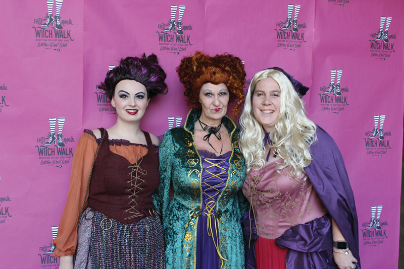 After posing for photos, these witches made the short walk to downtown Exeter for the second annual Witches Night Out event. Photo courtesy of Kaweah Delta Health Care District.
