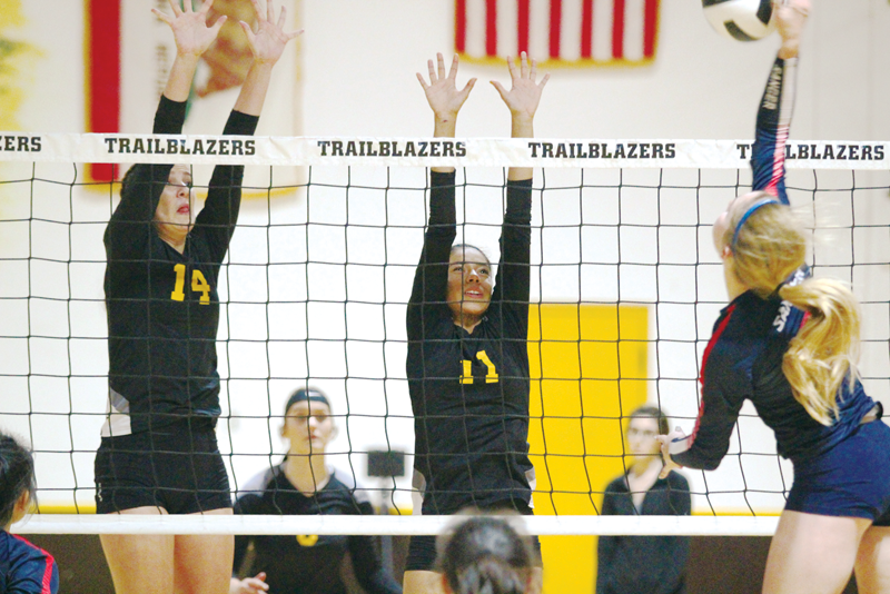 Volleyball: Blazers outhit Apaches 3-1