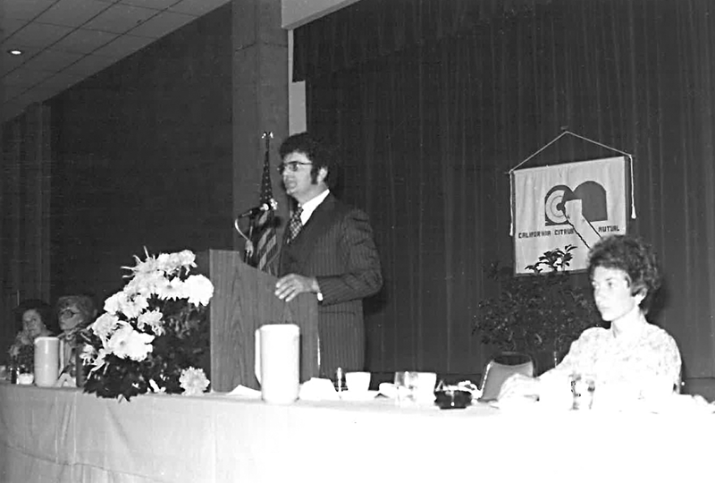 About 100 growers attended California Citrus Mutual's (CCM) first annual meeting in 1978, a year after the trade association was formed in Exeter. Photo courtesy of California Citrus Mutual.