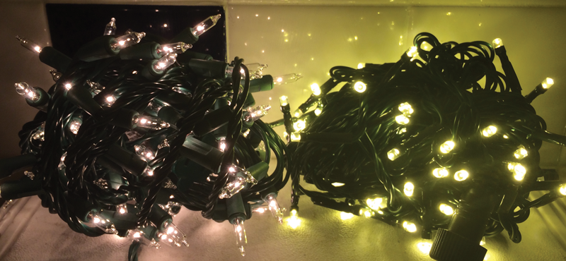 Led Vs Incandescent Christmas Lights