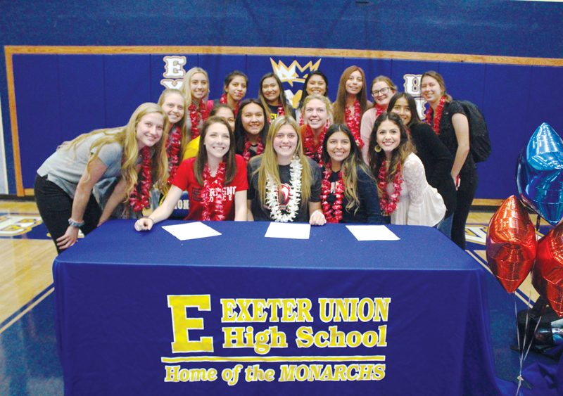 Taylor Hornburg, Brianna Villafana and Taelor Hire sign national letters of intent to play girls soccer at the next level