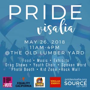Advertisement. Pride Visalia.