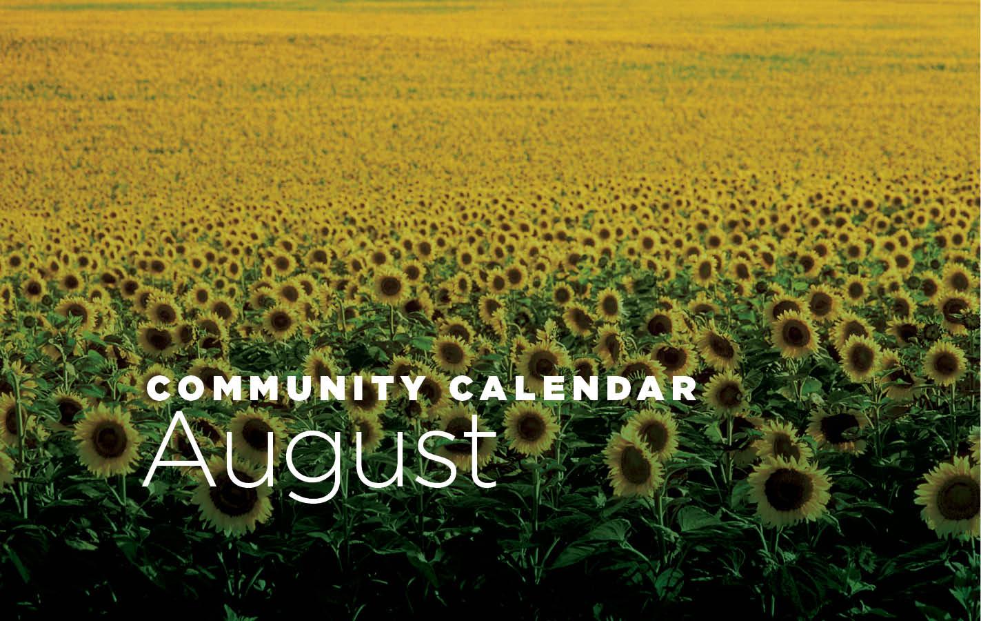 Community Calendar for August 2019
