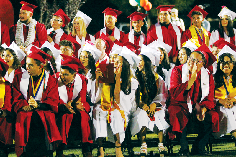 Lindsay High School Graduation: Largest Cardinal flock leaves Lindsay High nest