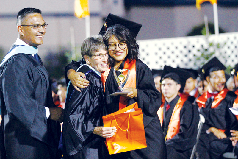 Woodlake Graduation: Gabriela Aguilar and Jacob Canizalez receive the first Youth Service Learning award