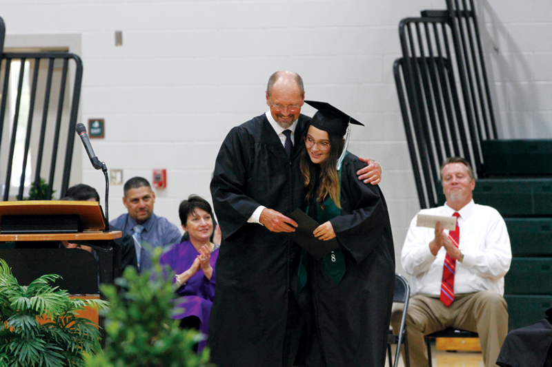 Deep Creek Academy in Farmersville applauds graduates who have overcome obstacles to graduate on time