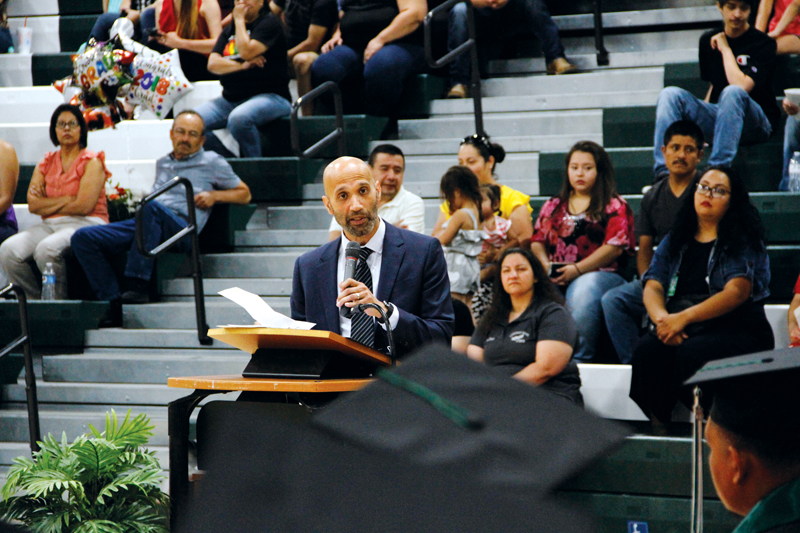Guest speaker Javier Guzman drives message home J.J. Cairns graduates will work harder to succeed