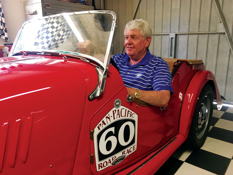 Visalia Chamber of Commerce's 2018 Man of the Year Sam Logan has committed 26 years of his life to his community, even longer to his Morgan Plus 4 car