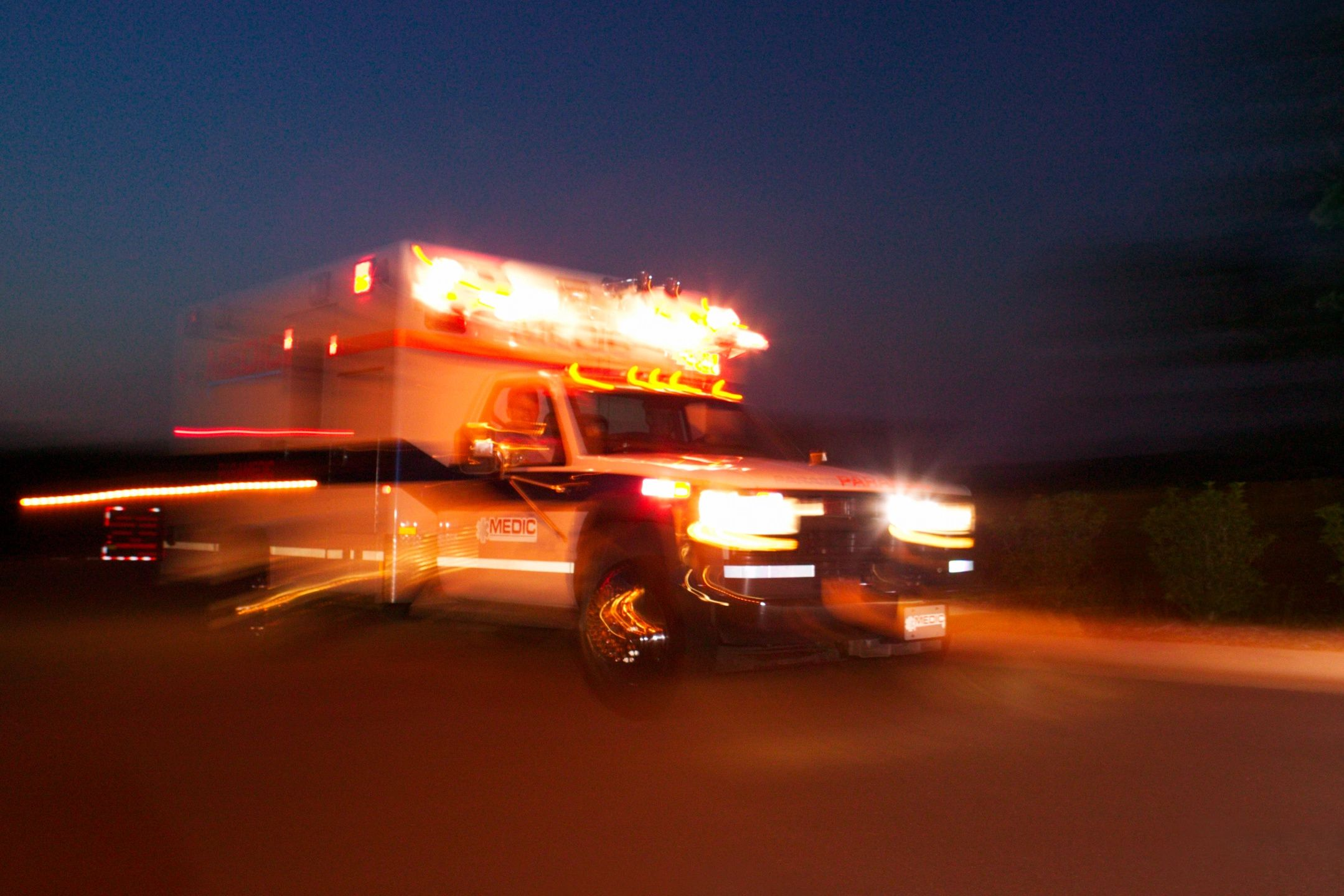 Ambulance in Woodlake gains traction