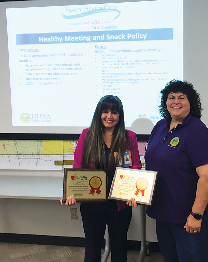 Family Health Care Network receives Healthy Worksite Award