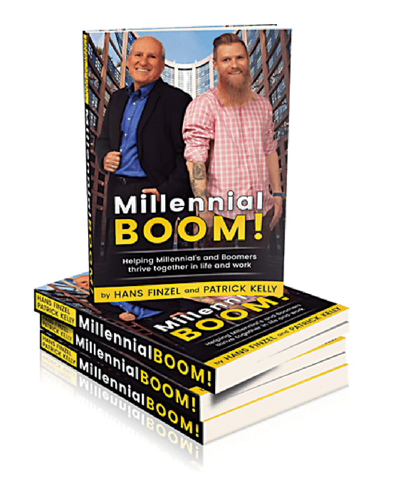 New book by Millennial Patrick Kelly and Boomer Dr. Hans Finzel addresses tensions between Millennials and Boomers in the workplace
