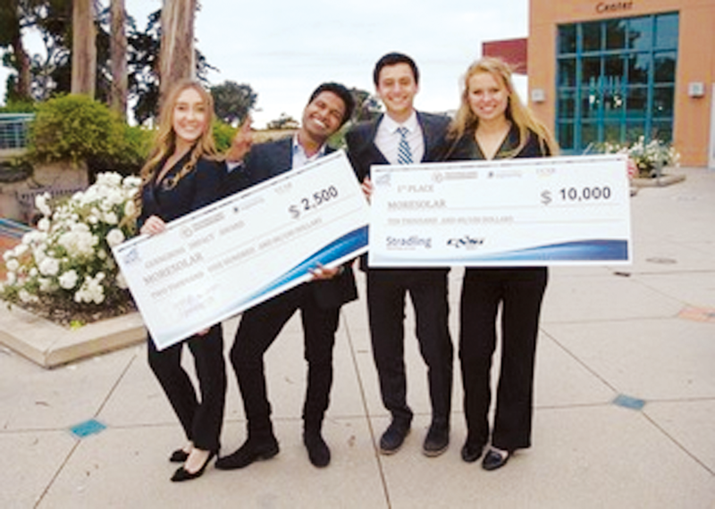 Former Monarch Andrea Anez leads her team, MoreSolar, to first place at the New Venture Competition
