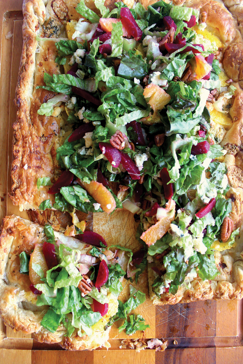 Recipe: Orange Galette with Beet Gorgonzola Salad