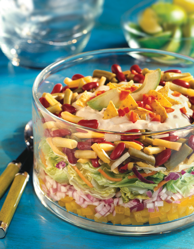 Recipe: Tex-Mex Layered Bean Salad