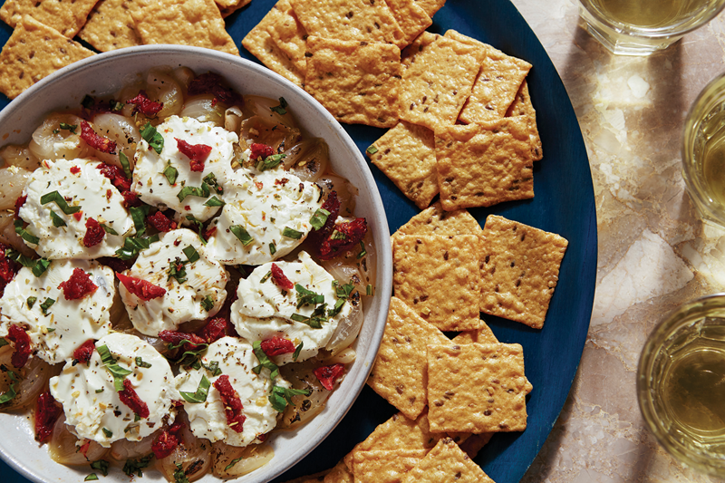 Recipe: Baked Onion, Goat Cheese and Sun-Dried Tomato Dip