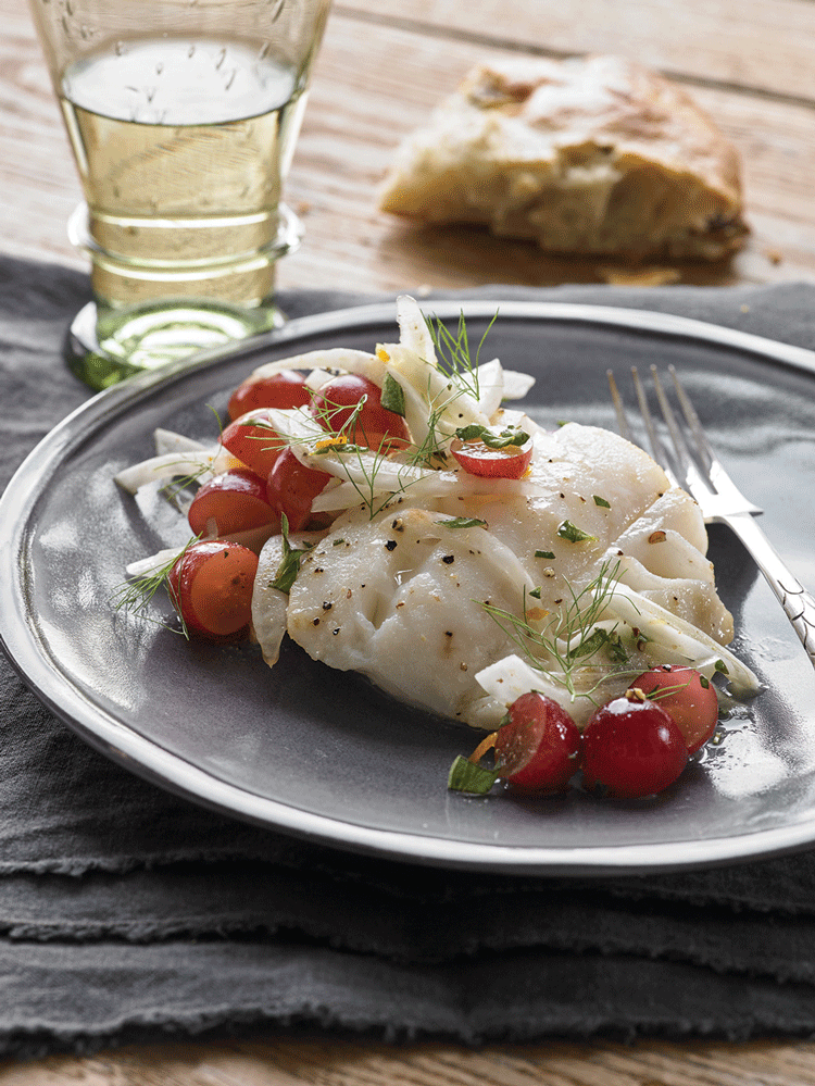 Recipe: Roasted Cod with Fennel and Grapes