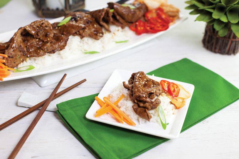 Asian-Inspired Recipe: Korean Beef Bulgogi and Kimchi Sticky Rice