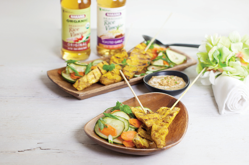 Asian-Inspired Recipe: Thai Chicken Satay with Light Cucumber Salad