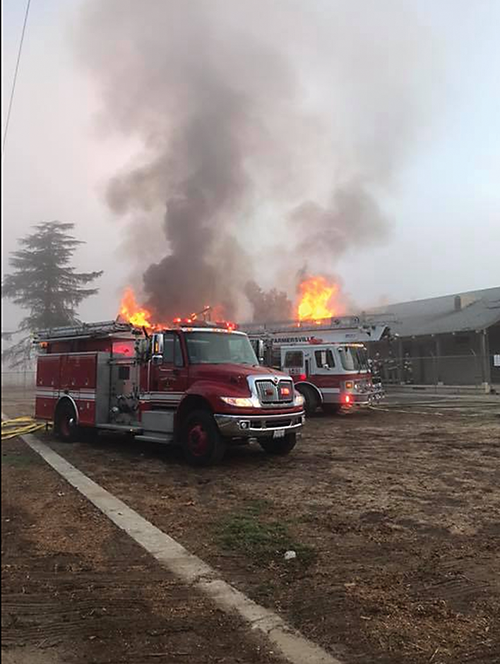 Fire destroys text books, former school