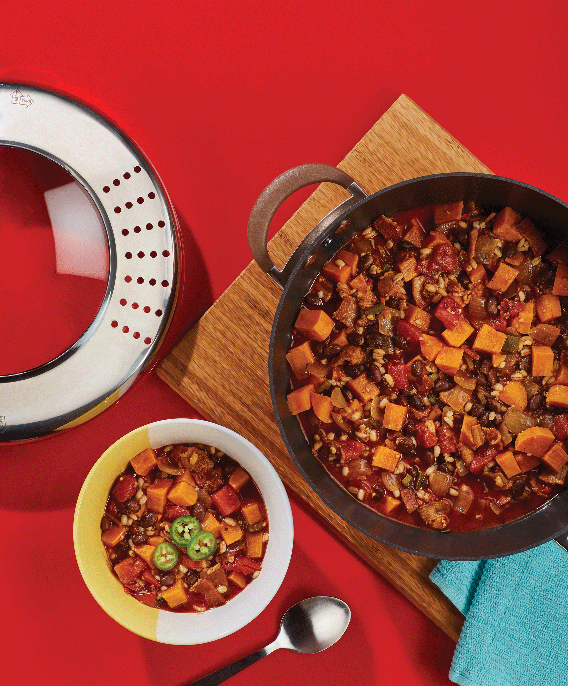 Cooking Up Comfort: Recipe for Sweet Potato and Black Bean Chili