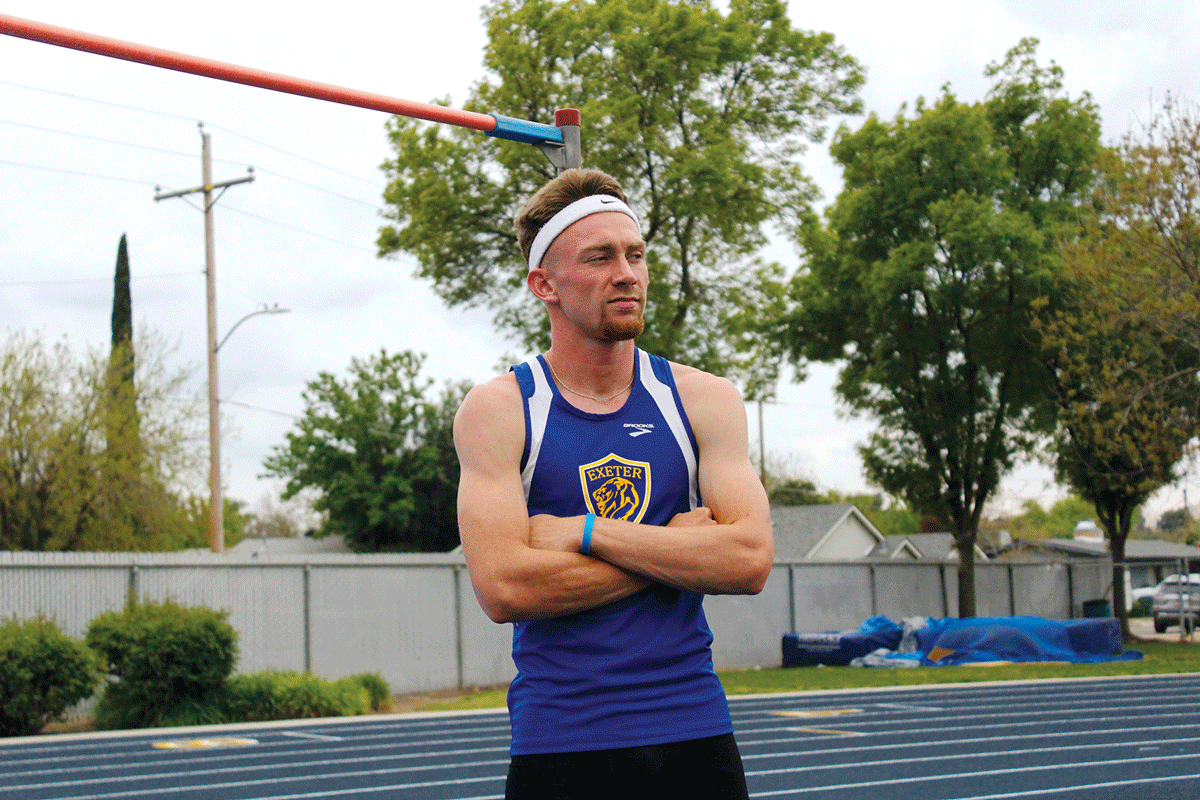 Chad Hilvers breaks Exeter's track and field records in the high jump and 200-meter run