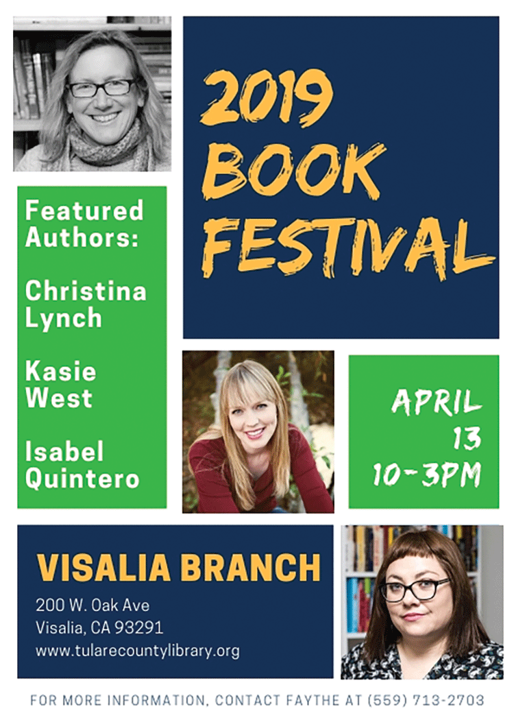 Library's book festival hosts 3 California authors